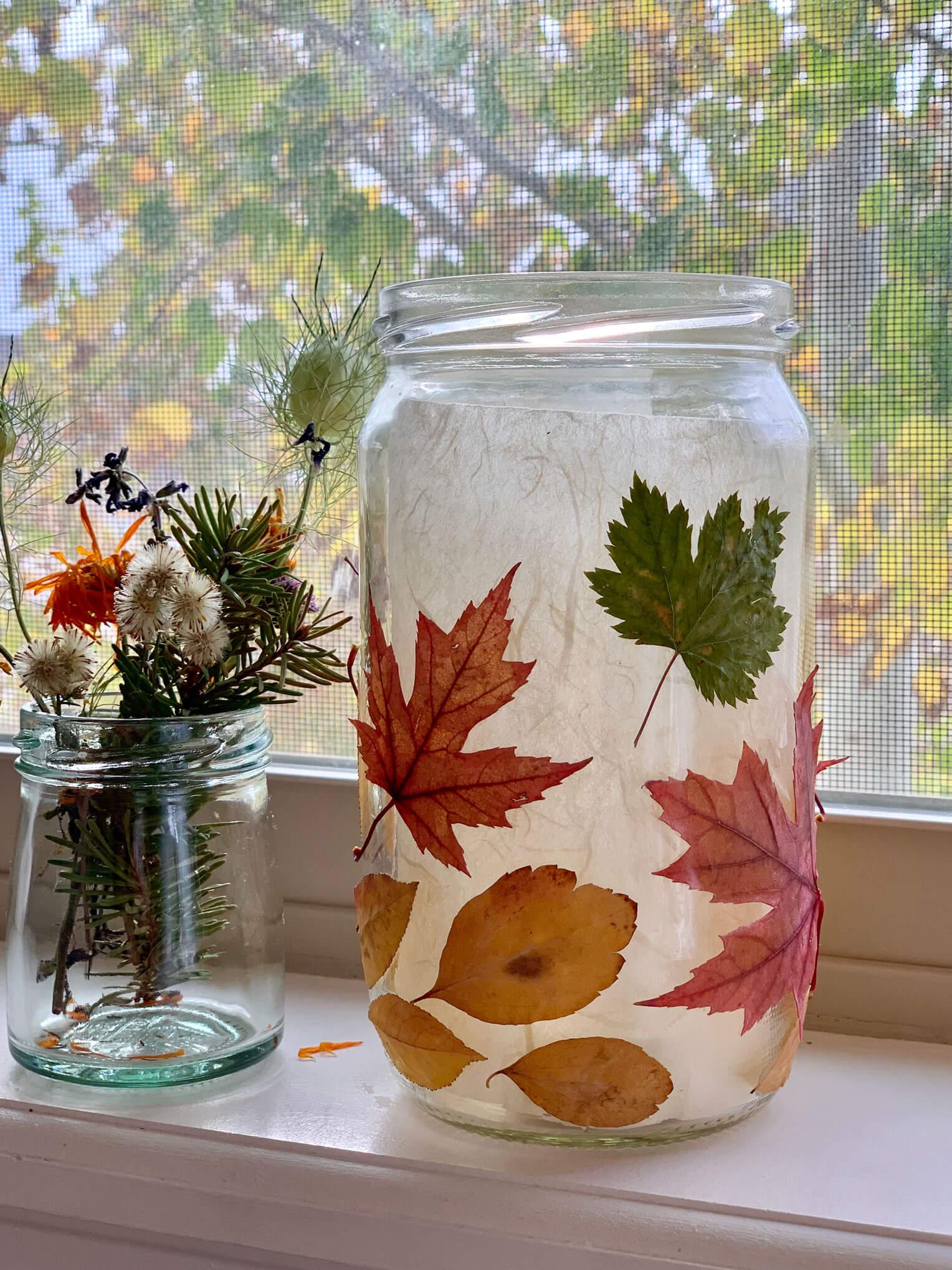 fall leaves children crafts fall lantern diy
