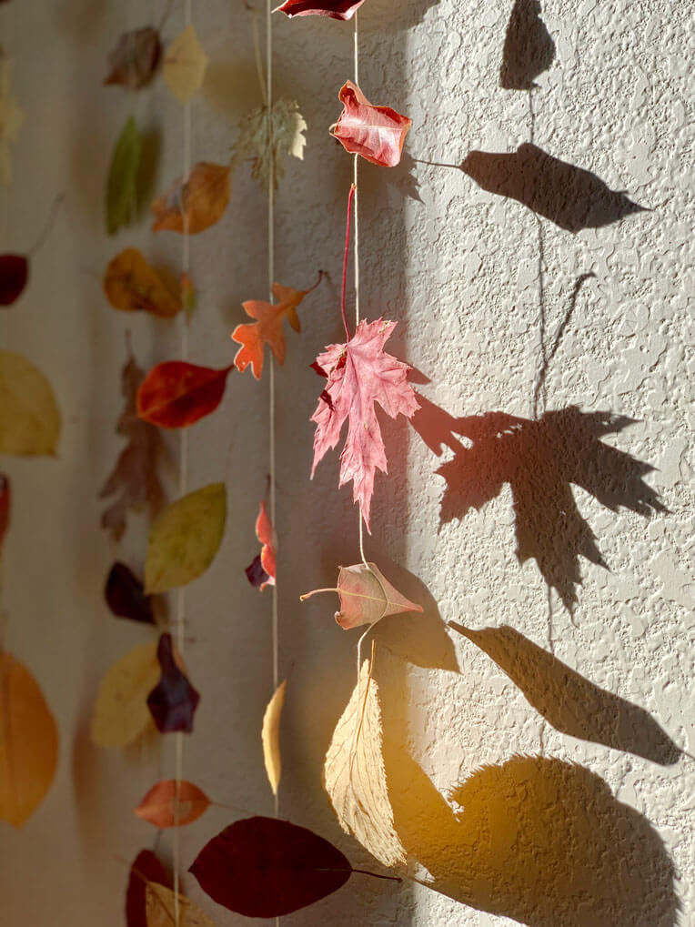 fall leaf craft with children