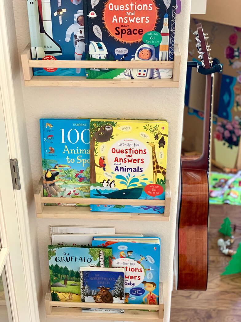 kids room decor book storage ideas
