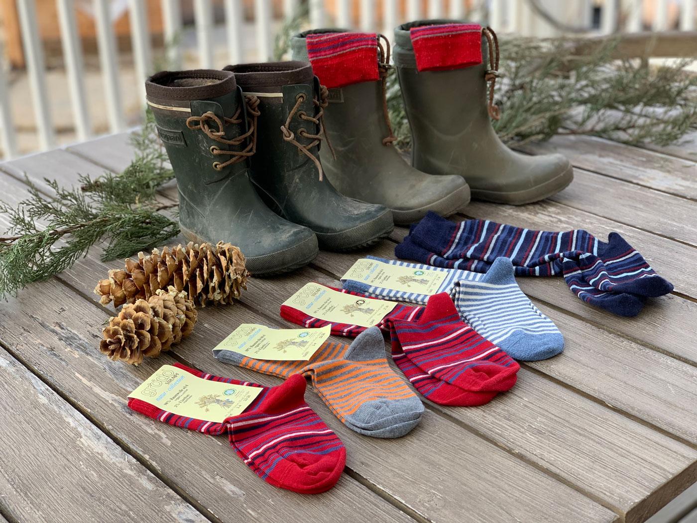 organic socks for children knee high socks wool socks for children