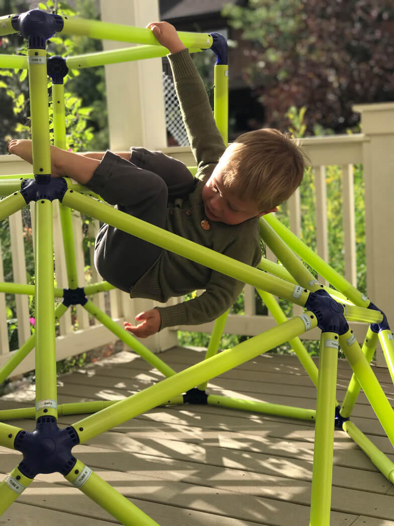 toddler outdoor gym climbing