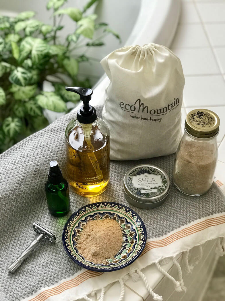 zero-waste chemical free bathroom personal care kit