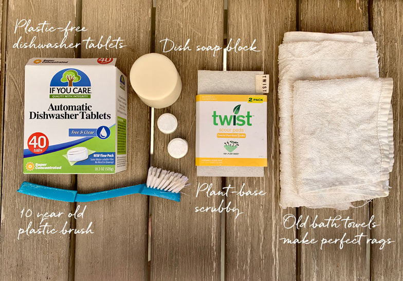 zero waste kitchen cleaning supplies